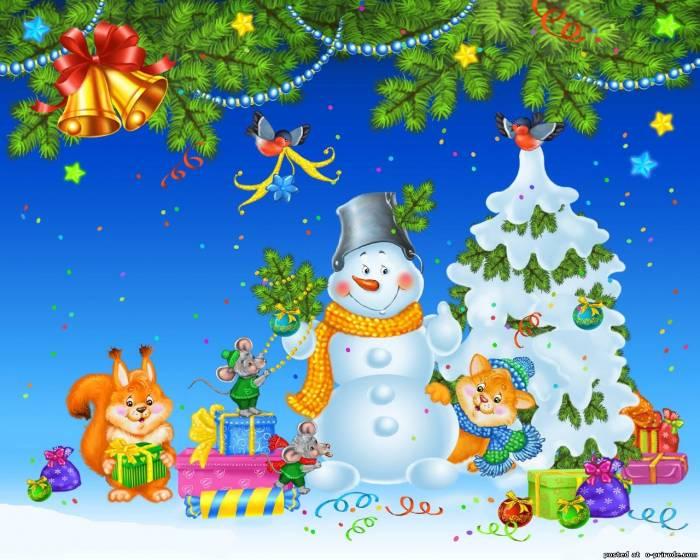 Рисунок в детский сад с новым годом